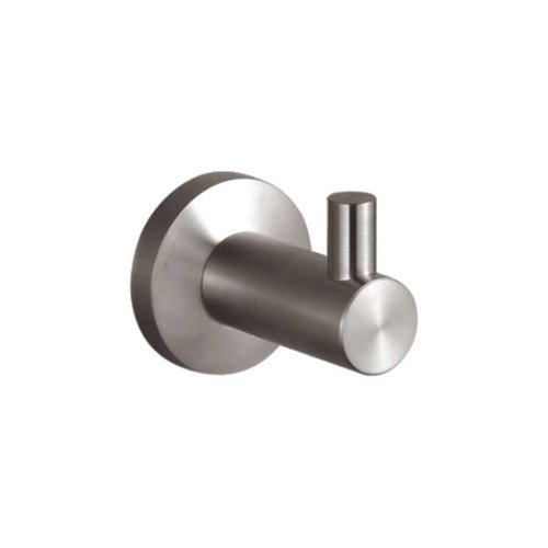 Nirvana Robe Hook Brushed Stainless Steel <small>(#66428)</small>
