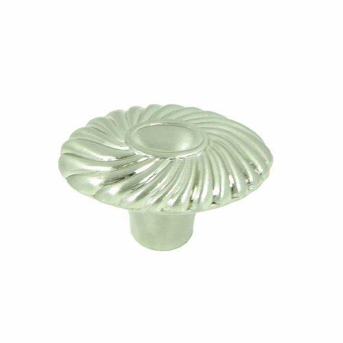 Stone Mill Hardware Vienna 1-5/8 Inch Diameter Satin Nickel Cabinet Knob CP88761-SN