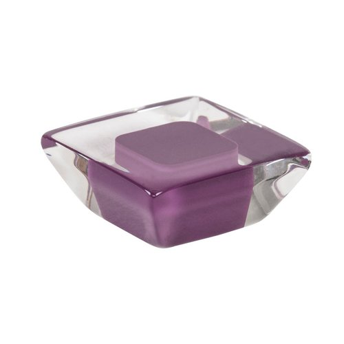R. Christensen Core 1-5/16 Inch Diameter Purple Transparent Cabinet Knob 9754-7000-P