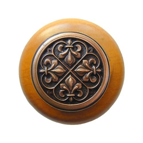 Notting Hill Olde World 1-1/2 Inch Diameter Antique Copper Cabinet Knob NHW-760M-AC