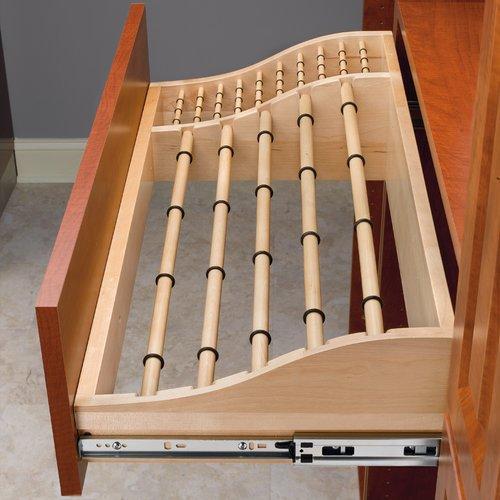 "Rev-A-Shelf 30"" Pants And Tie Rack-Wood CWPTR-3014-2"