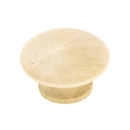 Allison Value Hardware 1-1/2 Inch Diameter Unfinished Birch Cabinet Knob <small>(#BP813WD)</small>