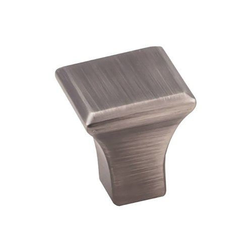 "Marlo Knob 7/8"" Long Brushed Pewter <small>(#972S-BNBDL)</small>"