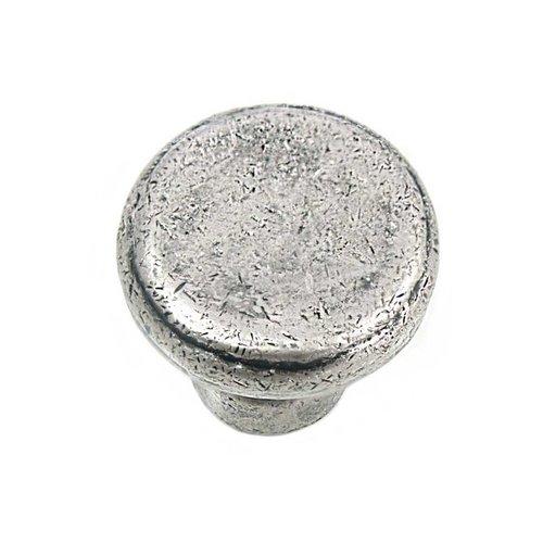MNG Hardware Riverstone 1-1/4 Inch Diameter Antique Pewter Cabinet Knob 84364