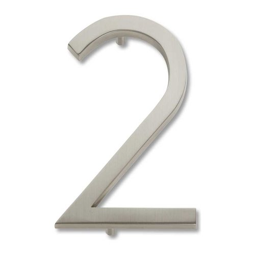Atlas Homewares Modern Avalon House Number Two Brushed Nickel AVN2-BRN