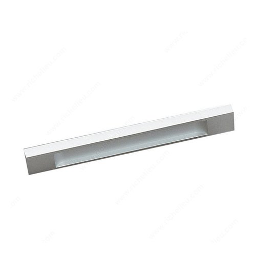 Richelieu Squared 6-5/16 Inch Center to Center Aluminum Cabinet Pull BP1310116010