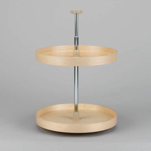 "Rev-A-Shelf Full Circle Two Shelf Set 20"" Diameter - Wood LD-4BW-062-20-1"