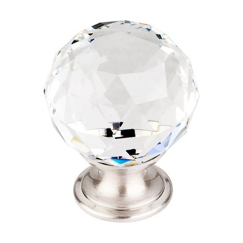 Top Knobs Crystal 1-3/8 Inch Diameter Clear Crystal Cabinet Knob TK126BSN