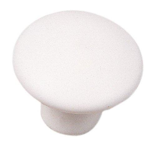 Laurey Hardware Mesa 1-3/8 Inch Diameter Matte White Cabinet Knob 03942