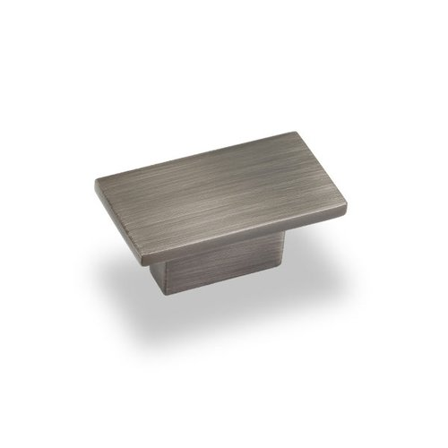 Jeffrey Alexander Miranda 5/8 Inch Center to Center Bright Nickel Brushed with Dull Lacquer Cabinet Knob 81021BNBDL