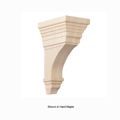 Brown Wood Medium Arts and Crafts Corbel Unfinished Paint Grade 01607011PT1