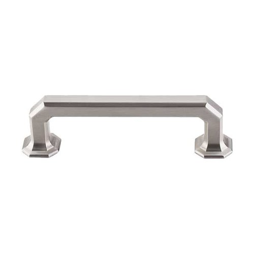 Top Knobs Chareau 3-3/4 Inch Center to Center Brushed Satin Nickel Cabinet Pull TK287BSN