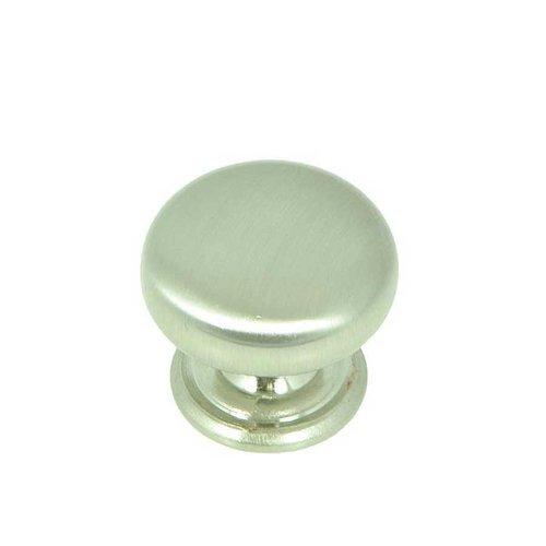 Stone Mill Hardware Princeton 1-1/4 Inch Diameter Satin Nickel Cabinet Knob CP82980-SN