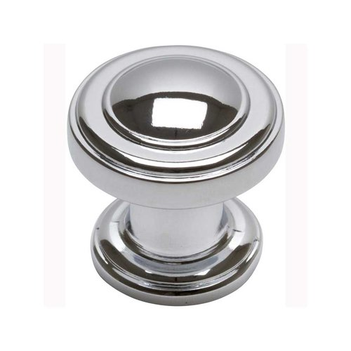 Bronte 1-1/8 Inch Diameter Polished Chrome Cabinet Knob <small>(#313-CH)</small>