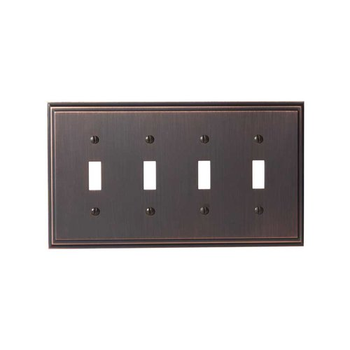 Amerock Mulholland Four Toggle Wall Plate Oil Rubbed Bronze BP36517ORB