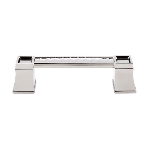Top Knobs Great Wall 4 Inch Center to Center Polished Nickel Cabinet Pull TK187PN