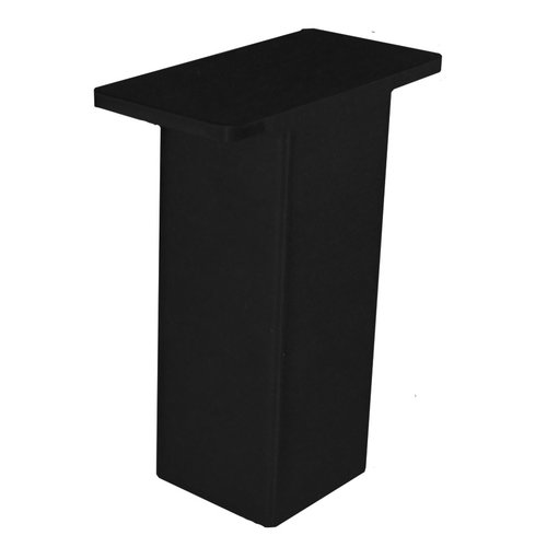 "Federal Brace The Plaza Countertop Post Support 5"" High Gloss Black 31537"