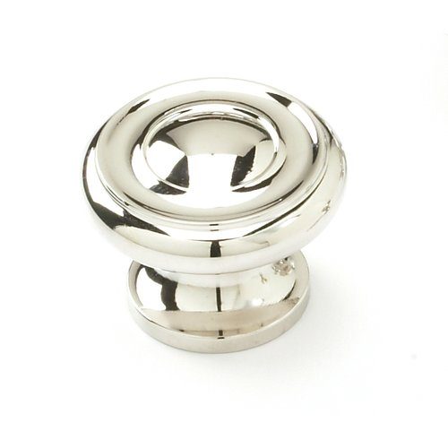 Schaub and Company Colonial 1-1/2 Inch Diameter Polished Nickel Cabinet Knob 704-PN
