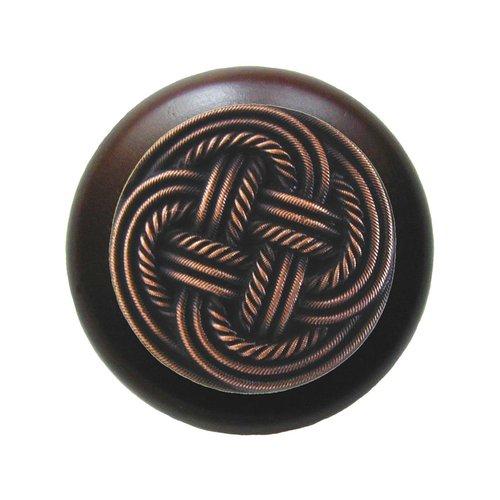 Notting Hill Classic 1-1/2 Inch Diameter Antique Copper Cabinet Knob NHW-739W-AC