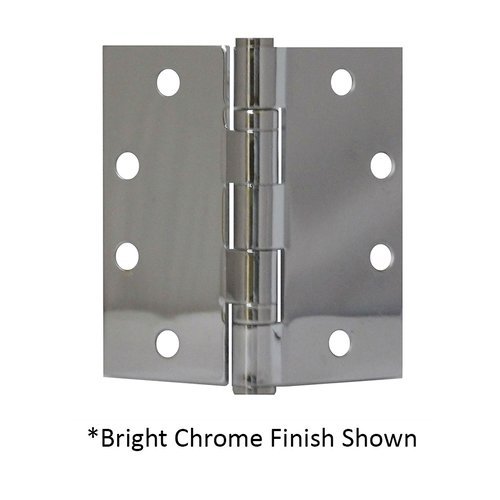 "Don-Jo Full Mort. Ball Bearing Hinge 4-1/2"" X 4-1/2"" Bright Chrome BB74545-651"