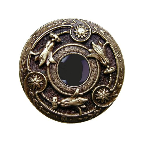 Notting Hill Jewel 1-1/4 Inch Diameter Antique Brass Cabinet Knob NHK-161-AB-O