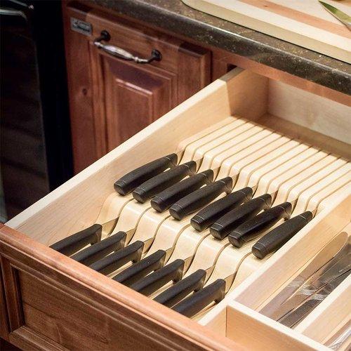 "Century Components Wave Knife Block 5-5/8"" W Maple WKB55PF"