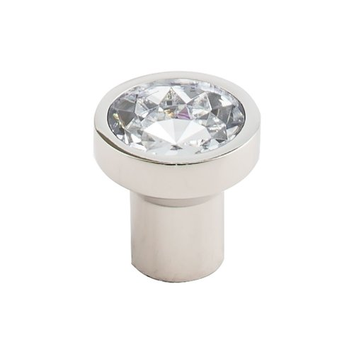 Barrington 1-1/8 Inch Diameter Crystal/Polished Nickel Cabinet Knob <small>(#TK736PN)</small>