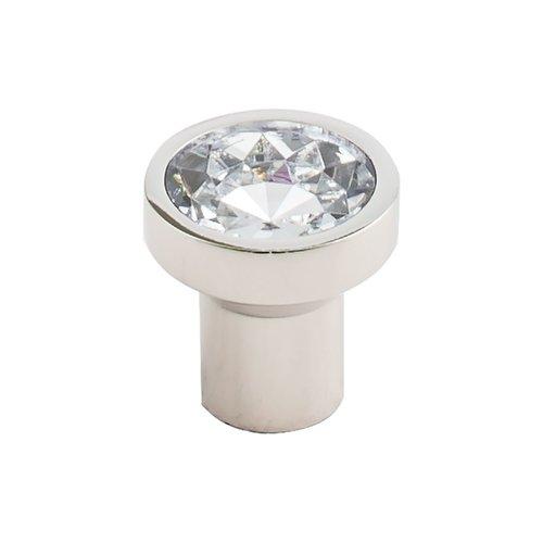 Top Knobs Barrington 1-1/8 Inch Diameter Crystal/Polished Nickel Cabinet Knob TK736PN