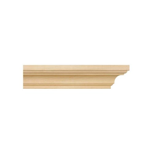 Brown Wood Simplicity Crown Moulding Unfinished Hard Maple 01807003HM1
