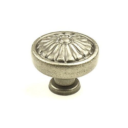 Hartford 1-1/4 Inch Diameter Aged Pewter Cabinet Knob <small>(#15326-AP)</small>