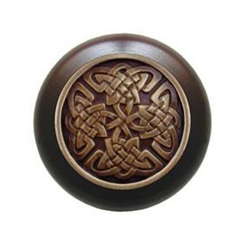 Notting Hill Jewel 1-1/2 Inch Diameter Antique Brass Cabinet Knob NHW-757W-AB