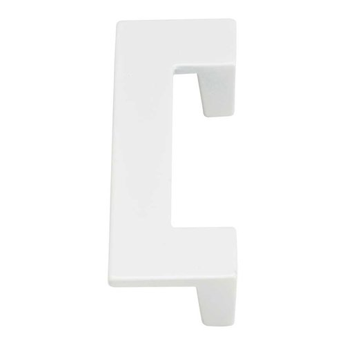 Atlas Homewares U-Turn 2-1/2 Inch Center to Center White Gloss Cabinet Pull A846-WG