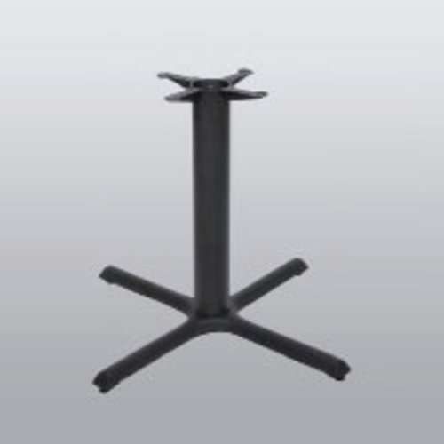 "Table Base 22"" x 22"" End Style X 28"" High-Black Matte Finish <small>(#2022-28-MT)</small>"