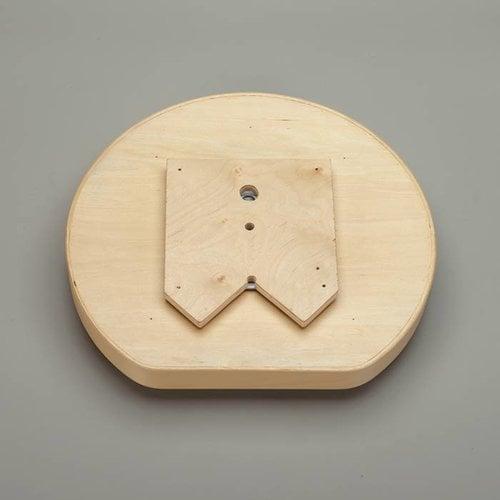 Rev-A-Shelf D Shape Single Shelf 20 inch Diameter - Wood LD-4BW-201-20SBS-1