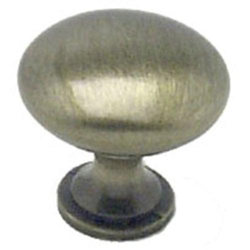 Berenson Euro Moderno 1-3/16 Inch Diameter Brushed Antique Brass Cabinet Knob 9724-1BAB-P
