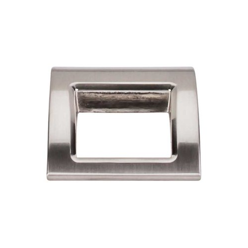 Top Knobs Mercer 1-1/2 Inch Length Brushed Satin Nickel Finger Pull TK616BSN