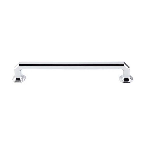 Top Knobs Chareau 7 Inch Center to Center Polished Chrome Cabinet Pull TK289PC