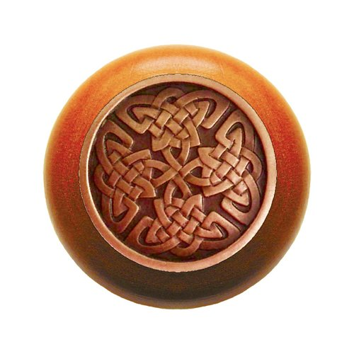 Jewel 1-1/2 Inch Diameter Antique Copper Cabinet Knob <small>(#NHW-757C-AC)</small>