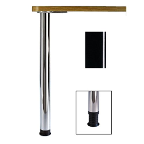 "Peter Meier Zoom Table Leg Black Gloss 34-1/4"" H 666-8S-02"