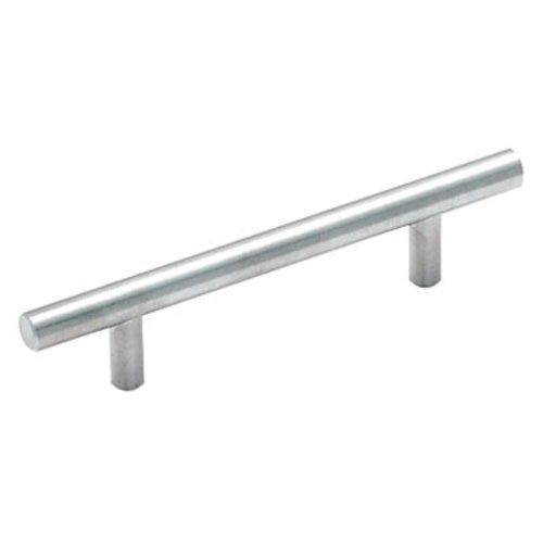 Amerock Bar Pulls 3-3/4 Inch Center to Center Sterling Nickel Cabinet Pull BP19011CSG9