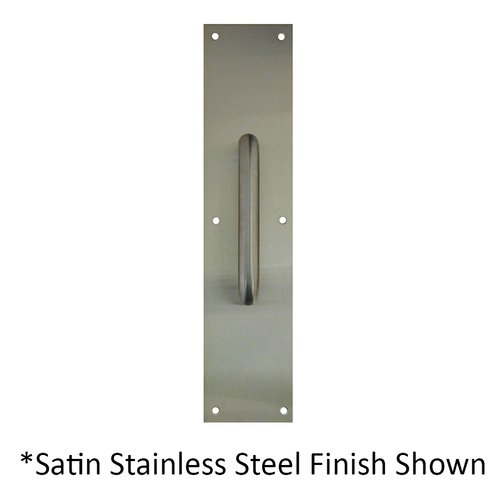 "4"" X 16"" Pull Plate With 9"" Pull Satin Brass <small>(#7119-606)</small>"