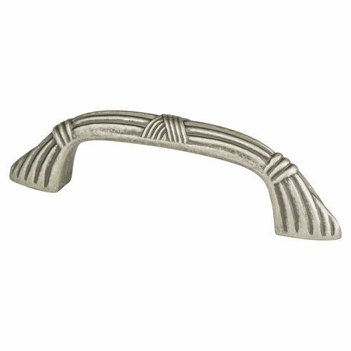 Toccata 3 Inch Center to Center Weathered Nickel Cabinet Pull <small>(#8246-1WN-P)</small>