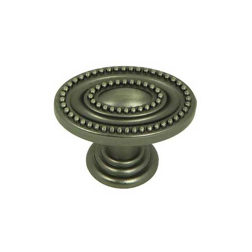 Stone Mill Hardware Palermo 1-1/2 Inch Diameter Weathered Nickel Cabinet Knob CP80147B-WEN