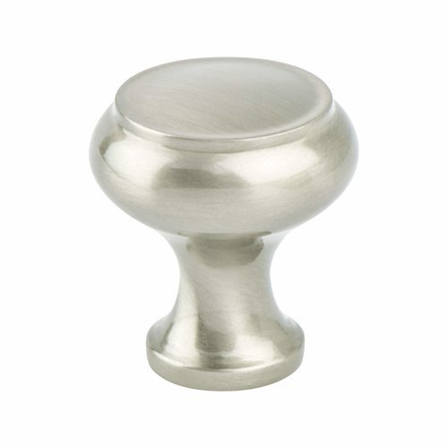 Forte 1-1/4 Inch Diameter Brushed Nickel Cabinet Knob <small>(#8285-1BPN-P)</small>