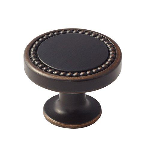 Amerock Carolyne 1-3/8 Inch Diameter Oil Rubbed Bronze Cabinet Knob BP36580ORB