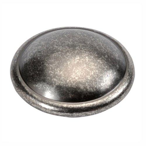 Hickory Hardware Cavalier Knob 1-1/4 inch Diameter Black Nickel Vibed P203-BNV