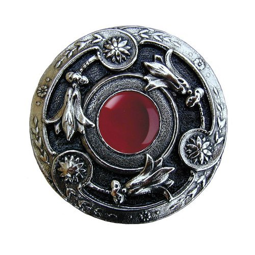 Notting Hill Jewel 1-1/4 Inch Diameter Brite Nickel Cabinet Knob NHK-161-BN-RC