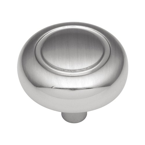 Hickory Hardware Eclipse 1-1/4 Inch Diameter Satin Silver Cloud Cabinet Knob P209-SC