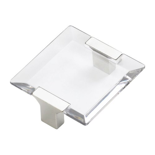 Positano 2-1/2 Inch Center to Center Chrome/Clear Cabinet Pull <small>(#315-26CL)</small>