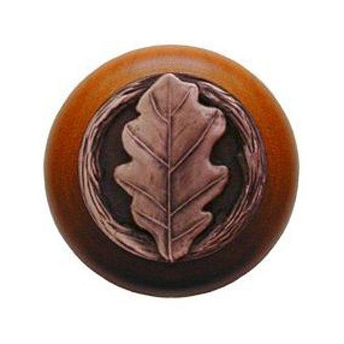 Notting Hill Leaves 1-1/2 Inch Diameter Antique Copper Cabinet Knob NHW-744C-AC